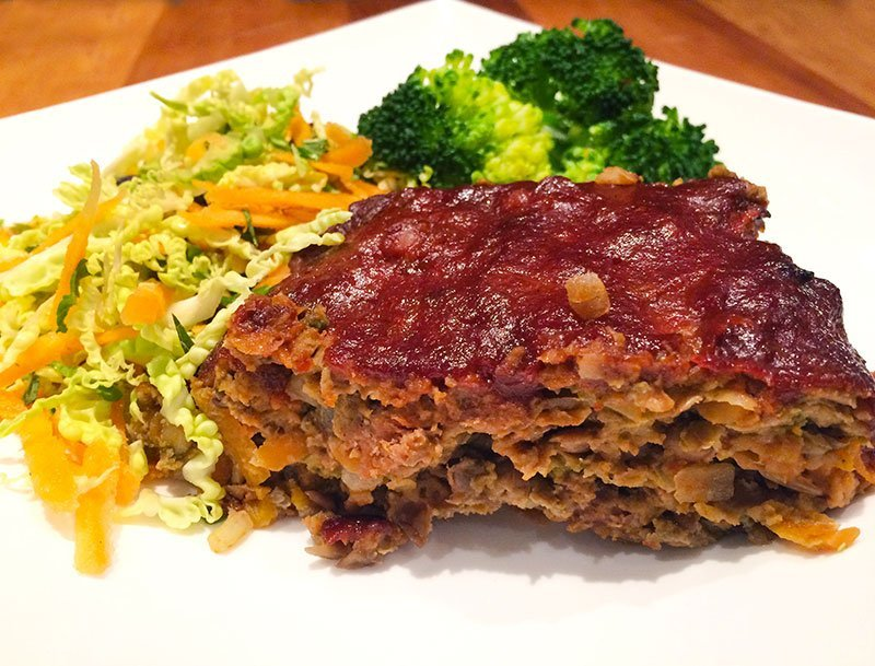 Vegetable loaded meat loaf