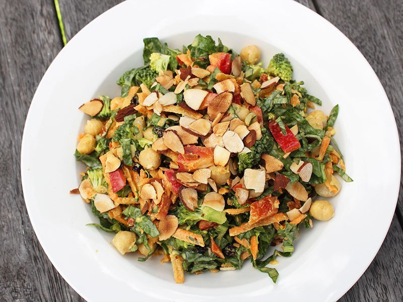 Curried Broccoli Chickpea Salad Wicked Wellbeing