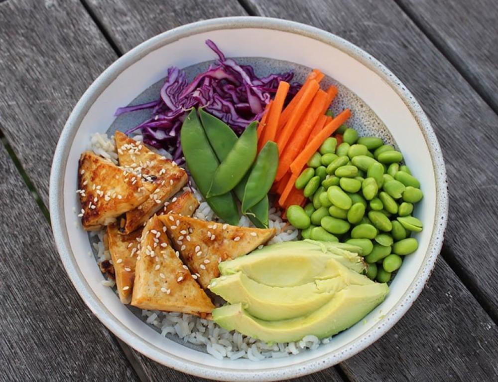 Teriyaki Tofu Poke Bowls