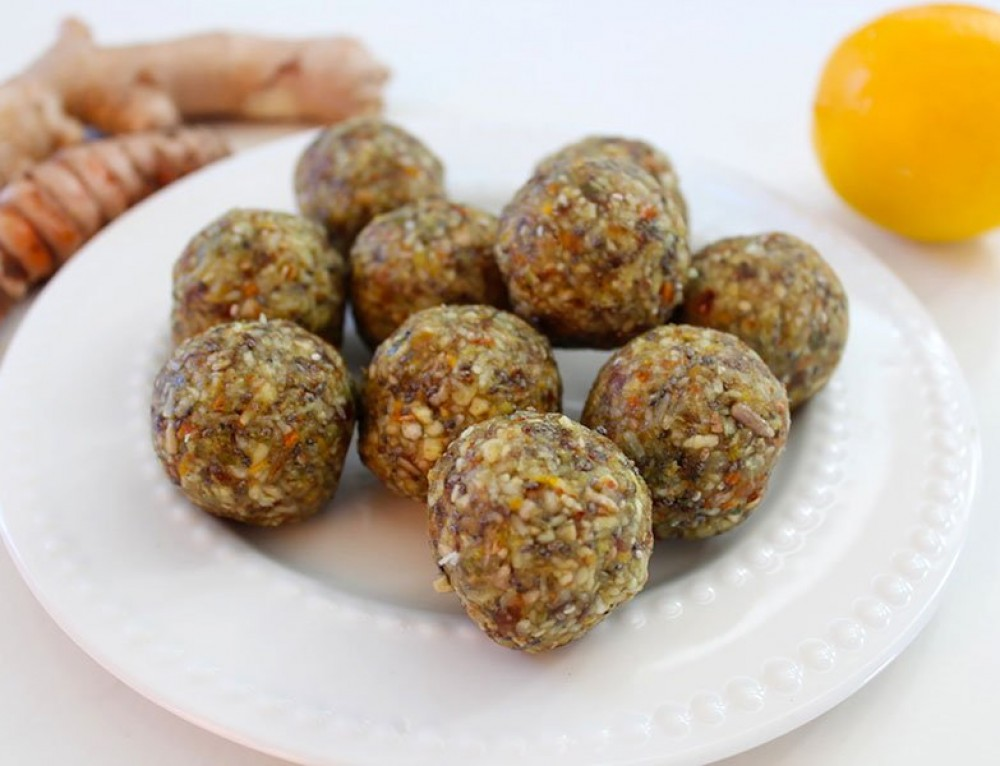 Turmeric, Ginger & Lemon Energy Balls