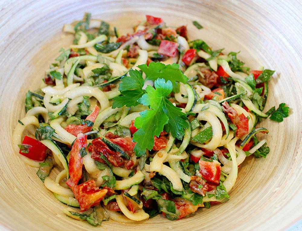 Courgette Salad w Thai Tahini Dressing