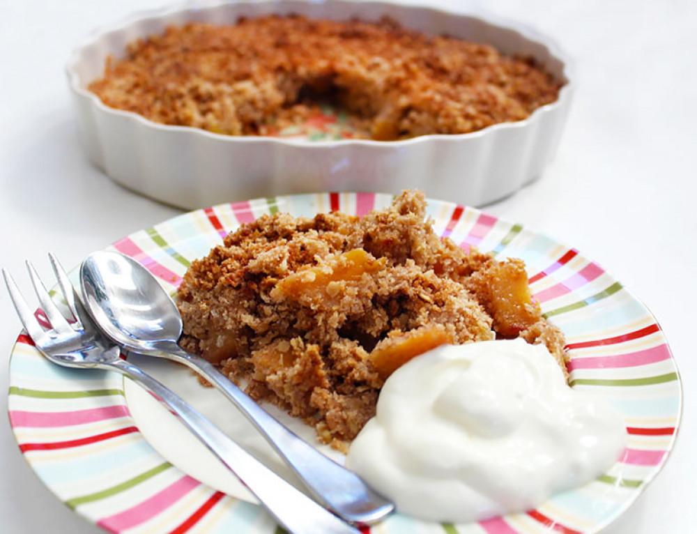 Persimmon & Apple Crumble | Warming Dessert